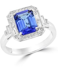 Bloomingdale's Tanzanite And Diamond Statement Ring In 14k White Gold - Multicolour