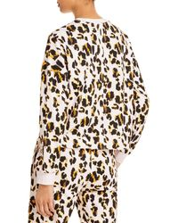 Aqua Athletic Leopard Print Sweatshirt - Multicolour
