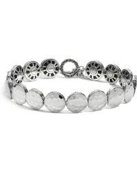 John Hardy - Women's Sterling Silver Palu Small Round Disc Bracelet - Lyst