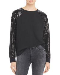 Marc New York Performance Sequined Sweatshirt - Black