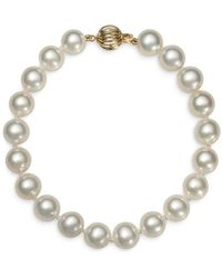 Bloomingdale's Cultured Freshwater Pearl Bracelet In 14k Yellow Gold - White