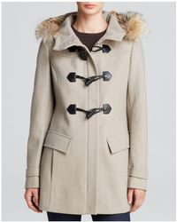 Marc New York - Fur-trimmed Erin Toggle Coat - Lyst