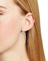 Kendra Scott Elle Open Frame Drop Earrings - Metallic