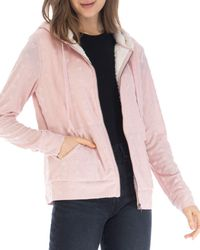 B Collection By Bobeau Hooded Jacquard Jacket - Pink