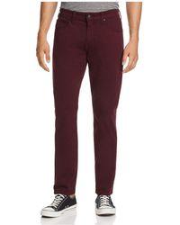 PAIGE - Federal Slim Fit Jeans In Dark Bordeaux - Lyst