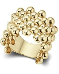 Lagos | Caviar Gold Collection 18k Gold Wide Beaded Ring | Lyst