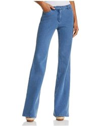 Theory - Demitria Flare Jeans In Movement Denim Light - Lyst