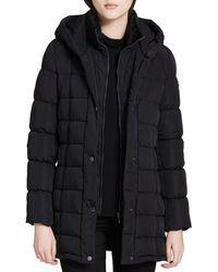 Calvin Klein Hooded Down Coat - Black