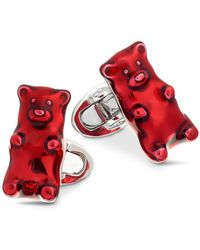 Jan Leslie Gummy Bear Cufflinks - Red