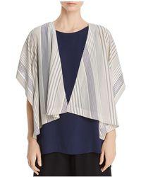 Eileen Fisher - Striped Silk Kimono Jacket - Lyst