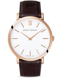 Larsson & Jennings - Ljxii Leather Strap Watch - Lyst