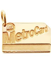 Jet Set Candy Nyc Metro Card Charm - Metallic