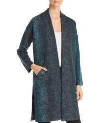 Eileen Fisher - Abstract Print Kimono Coat - Lyst