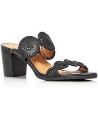 Jack Rogers - Women's Lauren Mid Heel Leather Sandals - Lyst
