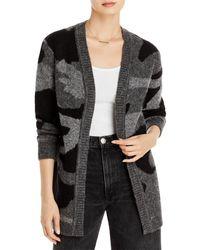 Aqua Camo Knit Cardigan - Grey