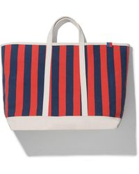 Kule The Stripe Canvas Tote - Red
