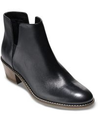 Cole Haan Women's Abbot Cutout Ankle Booties - Black