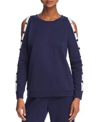 Honey Punch - Snap-sleeve Sweatshirt - Lyst