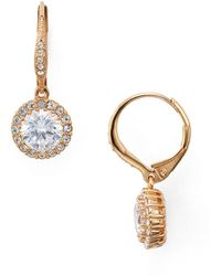 Nadri - Solitaire Drop Earrings - Lyst