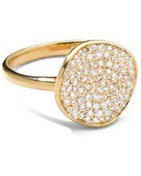 Ippolita 18kt Yellow Gold Stardust Disc Diamond Ring - Metallic