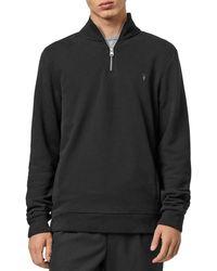 AllSaints Raven Quarter - Zip Pullover - Black