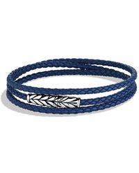 David Yurman - Chevron Triple-wrap Bracelet In Blue - Lyst