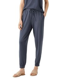 Eileen Fisher Ankle Track Trousers - Blue