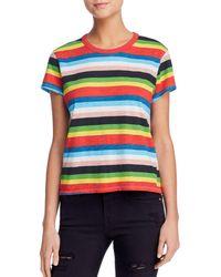 Pam & Gela - Rainbow Striped Tee - Lyst