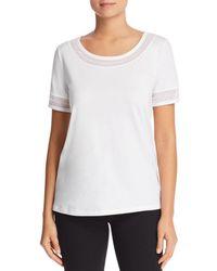 Donna Karan - New York Embellished Short Sleeve Top - Lyst