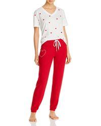 Aqua Sleep Love Is Love Pyjama Set - Red