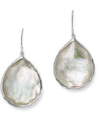 Ippolita Sterling Silver Wonderland Teardrop In Mother - Of - Pearl Earrings - Metallic