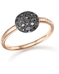 Pomellato - Sabbia Ring With Black Diamonds In Burnished 18k Rose Gold - Lyst