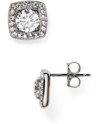 Nadri Swarovski Crystal Stud Earrings - Metallic