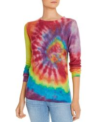 C By Bloomingdale's Rainbow Tie - Dye Cashmere Sweater - Multicolor