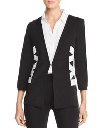 Misook - Crisscross Detail Jacket - Lyst