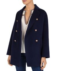Gerard Darel Regina Wool Pea Coat - Blue