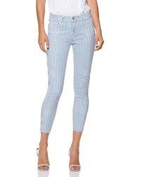 PAIGE - Verdugo Crop Skinny Jeans In Sky Blue Stripe - Lyst