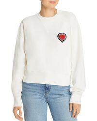 Rebecca Minkoff - Ebony Cropped Sweatshirt - Lyst