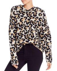 Aqua Hooded Leopard - Print Jumper - Natural