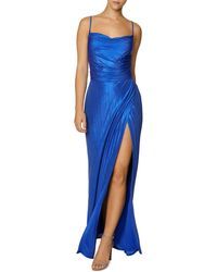 Laundry by Shelli Segal Lustrous Cowl Neck Gown - Blue