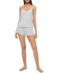 Calvin Klein Heart Print Cami & Shorts Pyjama Set - Grey