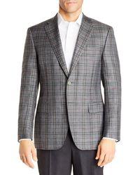 Canali Siena Plaid Classic Fit Sport Coat - Grey
