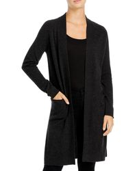 C By Bloomingdale's Cashmere Duster Cardigan - Gray