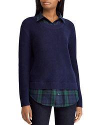 Ralph Lauren - Lauren Mixed Media Sweater - Lyst