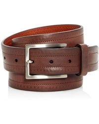 Trafalgar - Wesley Topstitch Leather Belt - Lyst