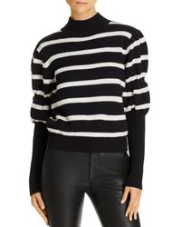 10 Crosby Derek Lam Elani Puff - Sleeve Striped Wool Jumper - Black