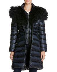 Dawn Levy - Camille Mongolian Fur Trim Down Coat - Lyst