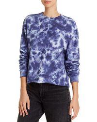 Aqua Athletic Tie - Dyed Sweatshirt - Blue