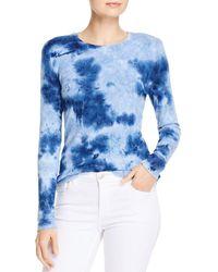 Dolan Tie - Dyed Ribbed Crewneck T - Shirt - Blue