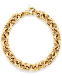 Bloomingdale's Interlocking Chain Bracelet In 14k Yellow Gold - Metallic